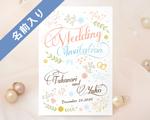 結婚式招待状(インポートカード) プレシャスA【Name on Card タイプ】