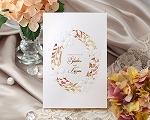 結婚式招待状(印刷込み) ノーブルBW(ブラウン)【Name on Card タイプ】