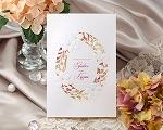 結婚式招待状(印刷込み) ノーブルWR(ワインレッド)【Name on Card タイプ】