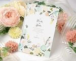 結婚式招待状(印刷込み) シェリールA【Name on Card タイプ】