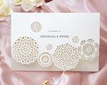 結婚式招待状(印刷込み) レースN(ナチュラル)【Name on Card タイプ】