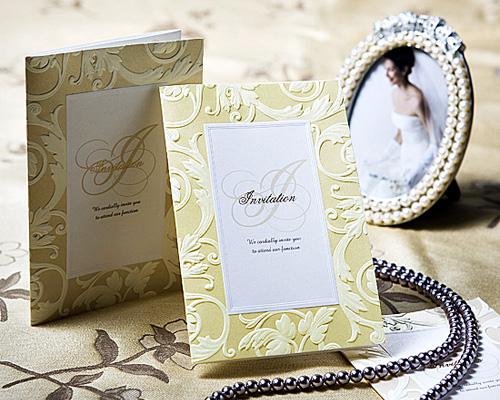 結婚式招待状(手作りキット) アダージョG(ゴールド) メイン画像