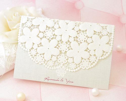 結婚式招待状(手作りキット) カルムA【Name on Card タイプ】 メイン画像