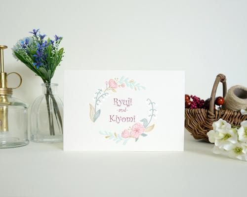 結婚式招待状(手作りキット) ミーテA【Name on Card タイプ】 メイン画像