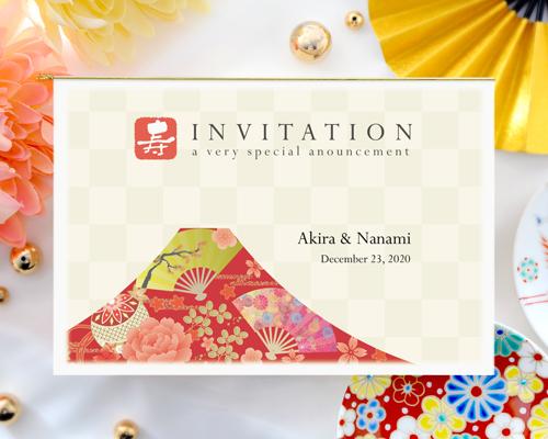 結婚式招待状(印刷込み) Akane(アカネ)A【Name on Card タイプ】 メイン画像