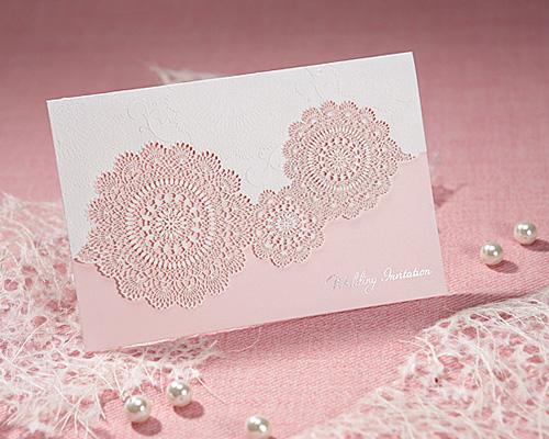 結婚式招待状(手作りキット) レースP(ピンク) サポート画像1 (拡大)