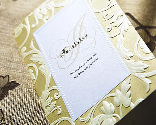 結婚式招待状(手作りキット) アダージョG(ゴールド) サポート画像1 (拡大)