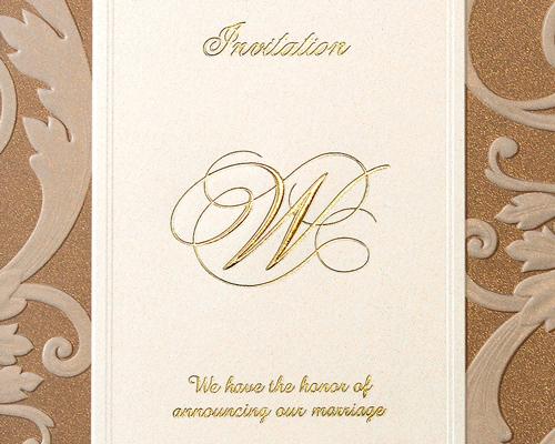 結婚式招待状(手作りキット) アダージョBW(ブラウン) サポート画像1 (拡大)