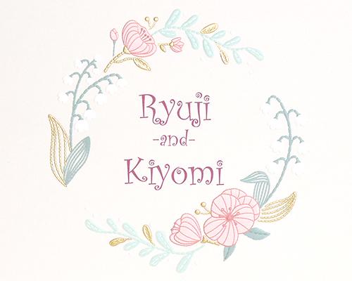 結婚式招待状(手作りキット) ミーテA【Name on Card タイプ】 サポート画像1 (拡大)