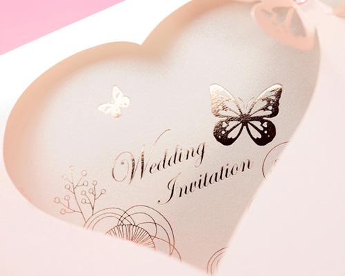 結婚式招待状(手作りキット) パピヨンP(ピンク) サポート画像2 (拡大)