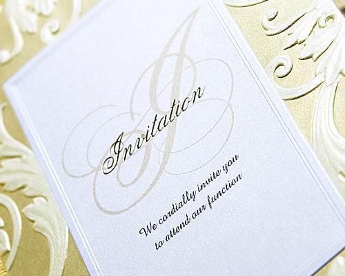 結婚式招待状(手作りキット) アダージョG(ゴールド) サポート画像2 (拡大)
