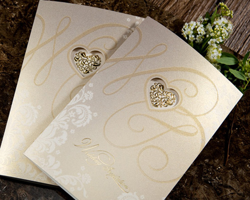 結婚式招待状(手作りキット) オリエンタルG(ゴールド) サポート画像2 (拡大)
