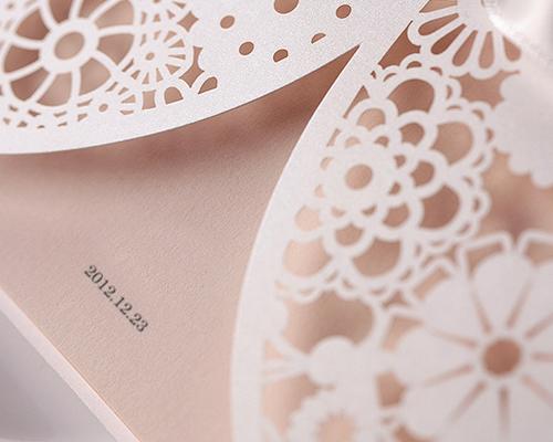結婚式招待状(手作りキット) ブルーミングD サポート画像2 (拡大)