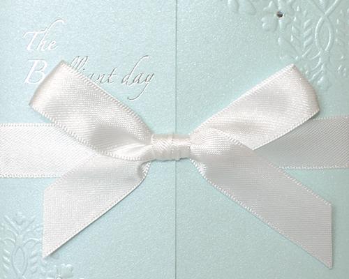 結婚式招待状(手作りキット) ブリリアント・ブルー サポート画像2 (拡大)