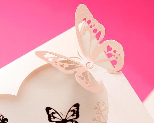 結婚式招待状(手作りキット) パピヨンP(ピンク) サポート画像3 (拡大)