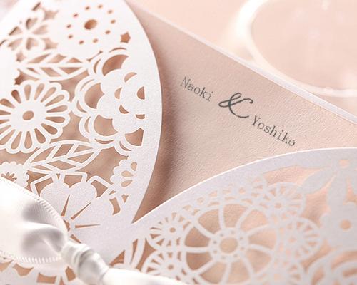結婚式招待状(手作りキット) ブルーミングD サポート画像3 (拡大)