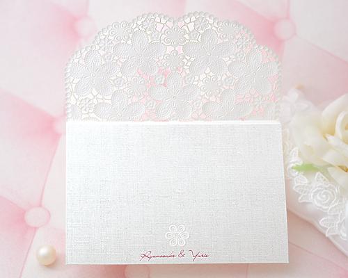 結婚式招待状(手作りキット) カルムA【Name on Card タイプ】 サポート画像3 (拡大)