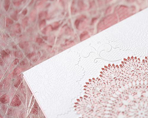 結婚式招待状(手作りキット) レースP(ピンク) サポート画像4 (拡大)