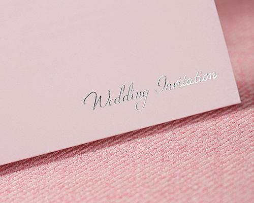 結婚式招待状(手作りキット) レースP(ピンク) サポート画像6 (拡大)