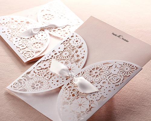 結婚式招待状(手作りキット) ブルーミングD サポート画像6 (拡大)