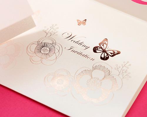 結婚式招待状(手作りキット) パピヨンP(ピンク) サポート画像7 (拡大)