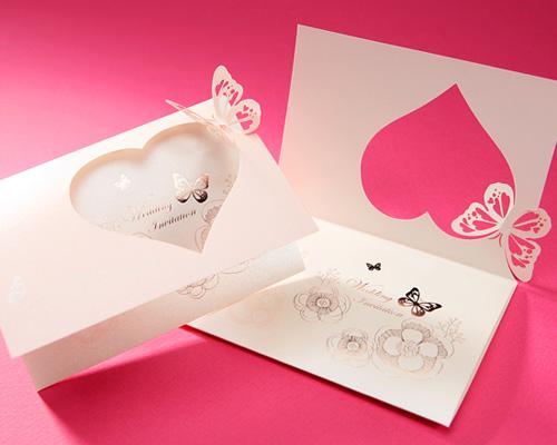 結婚式招待状(手作りキット) パピヨンP(ピンク) サポート画像8 (拡大)
