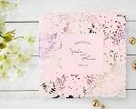 結婚式招待状(印刷込み) ライラック【Name on Card タイプ】