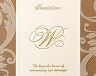 結婚式招待状(手作りキット) アダージョBW(ブラウン) サポート画像1